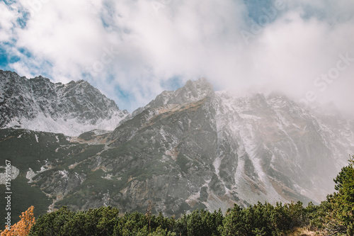 Deurstickers Grijs Landscape. Beautiful travel image. Mountain adventure.