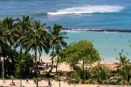 Staande foto Tropical strand Waikiki