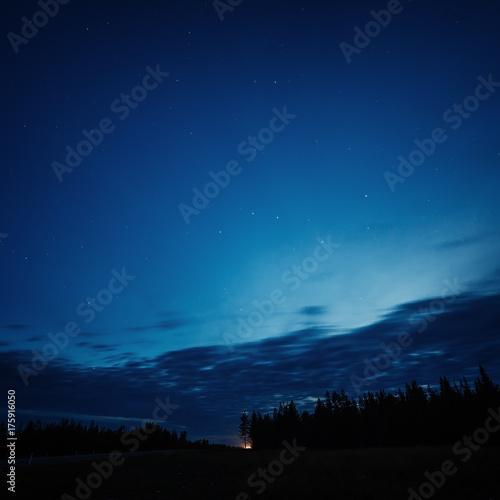 Night sky with bright stars.