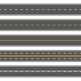 Horizontal straight seamless roads. Modern asphalt repetitive highways - 175917408