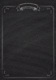 Vector retro menu blackboard background with border - 175927085
