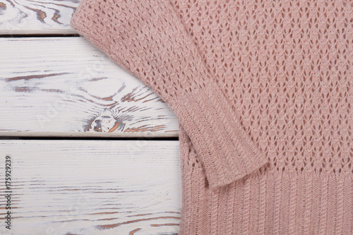Cropped photo of handmade jumper Poster