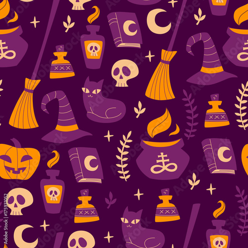 Materiał do szycia Vector Background for Halloween.