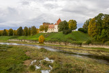 Livonia Order Castle was built in the middle of the 15th century. Bauska Latvia in autumn