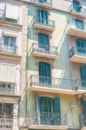 Old house in Barcelona, Catalonia Spain