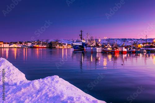 Foto op Aluminium Snoeien Batsfjord inner marina