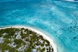 aerial view of sandy beach lagoon of polynesia Cook islands - 175954052