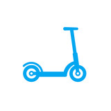 kick scooter icon isolated on white