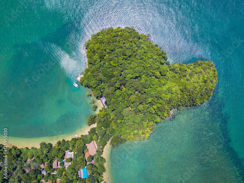 Foto op Canvas Groen blauw railay beach,krabi,thailand