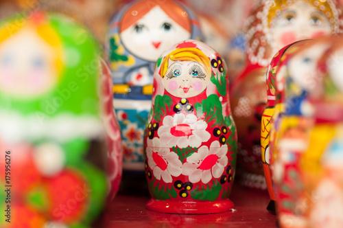 nesting doll Rosyjska pamiątka na ulicy w Moskwie