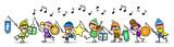 Kinder feiern Sankt Martin mit Laternenumzug - 175956696