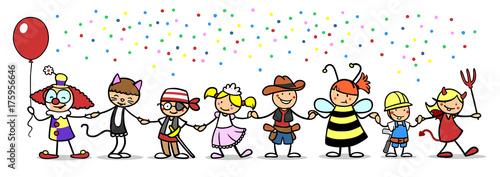Spoed canvasdoek 2cm dik Wanddecoratie met eigen foto Kinder feiern Faschingsparty an Karneval