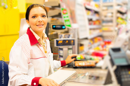 Sales Clerk In The Supermarket