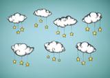 Wolken mit Sternenanhängern - 175959494