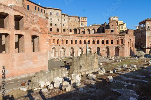 In de dag Rome Trajan's Market, Rome, Italy