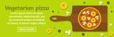 Vegetarian pizza banner horizontal concept - 175960811