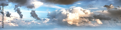 Keuken foto achterwand Ochtendgloren Sky clouds art sunrise background