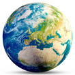 Leinwandbild Motiv Planet Earth - Europe 3d rendering