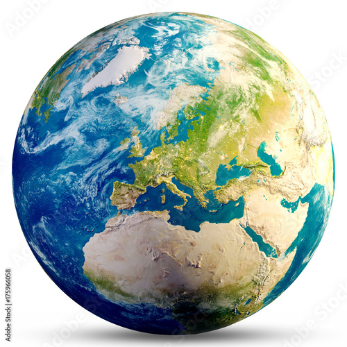 Planet Earth - Europe 3d rendering - 175966058