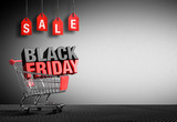 Black Friday Concept - 3D Text In Cart - 175970623