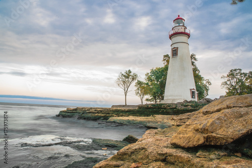 Fotobehang Vuurtoren Marblehead Ohio Lighthouse