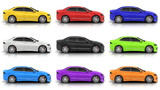 Nine car in different colors - 175974006