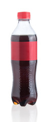 Plastic bottle of cola isolated on a white background © showcake
