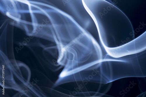 Abstract smoke on black background.