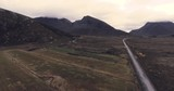 Beautiful landscape view with big mountains and country road in Norway Lofoten - 175986209
