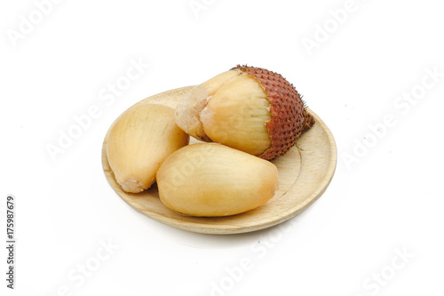 Fotobehang Bali salacca fruit on white and clipping path