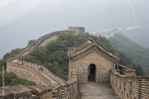 Great Wall of China in a morning mist Poster
