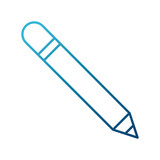 Wooden pencil isolated icon vector illustration graphic design - 176000293