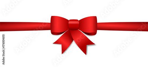 Geschenk rotes Schleifenband