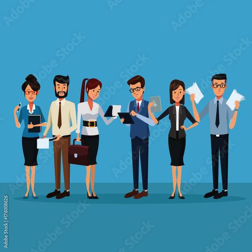 Business people cartoon icon vector illustration graphic design
