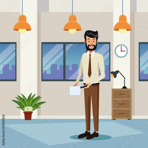 Fridge magnet Business people cartoon icon vector illustration graphic design