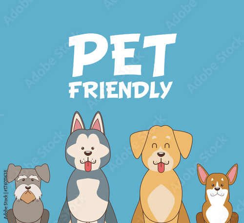 mata magnetyczna Pet friendly cartoon icon vector illustration graphic design