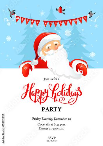 Santa Claus card holiday winter