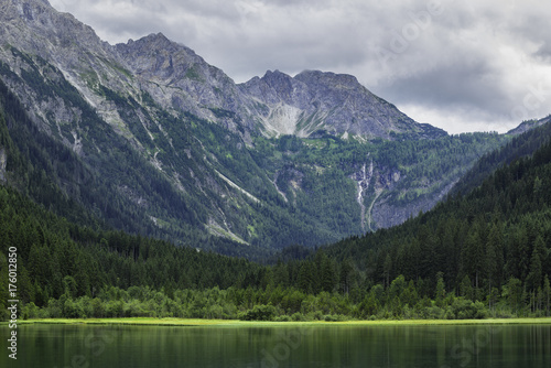 Fotobehang Natuur Jagersee in Austrian Alps, Salzburger Land, Summer Mountains