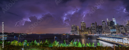 Fototapeta Storm over NYC