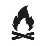 Vector cartoon style illustration of bonfire. Icon for web. Isolated on white background. - 176014088