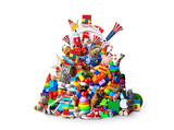 Huge pile of different and colored toys - 176014275