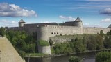 Fortress Ivangorod on border of Russia and Estonia - 176019897