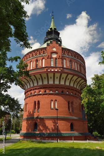 Zdjęcia na płótnie, fototapety na wymiar, obrazy na ścianę : Water Tower in Bydgoszcz, Poland.