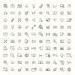 seo, developement, website optimization black line 100 icons set