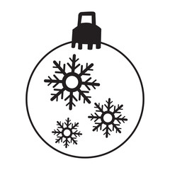 Isolated christmas ball icon on a white background, Vector illustration