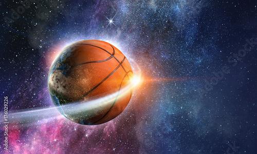 Fotobehang Basketbal Basketball game concept