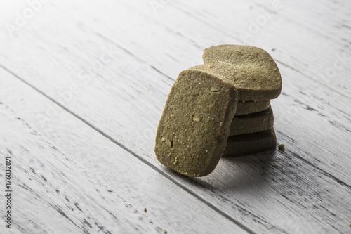 Foto op Plexiglas Stenen in het Zand Square cookie