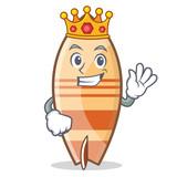 King surfboard character cartoon style - 176036694
