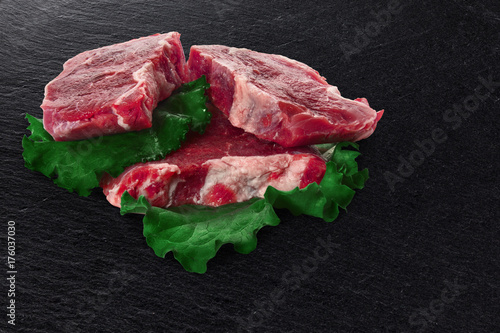 Fotobehang Steakhouse Cuts of beef meat steacks