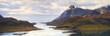 Strait between rocks in the Lofoten islands